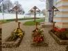 Могилы игумений Евгении (Мещерской), Евгении (Озеровой), Евгении (Таишевой) (справа налево)
