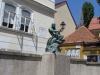 Загреб. Скульптура Рыбак